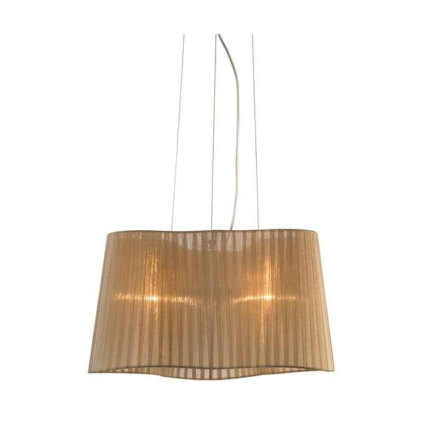 Brązowa lampa wisząca Markslöjd Vinsingso, 46 cm