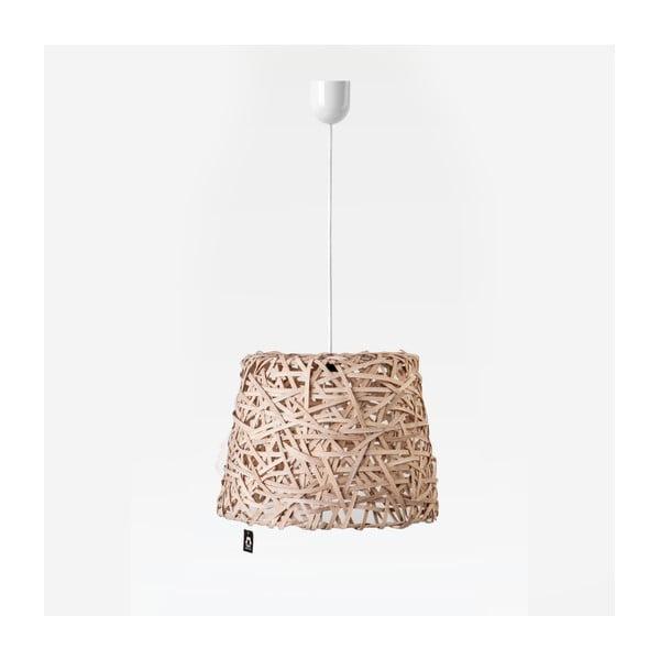 Lampa wisząca Roll, 35x29 cm, brązowa