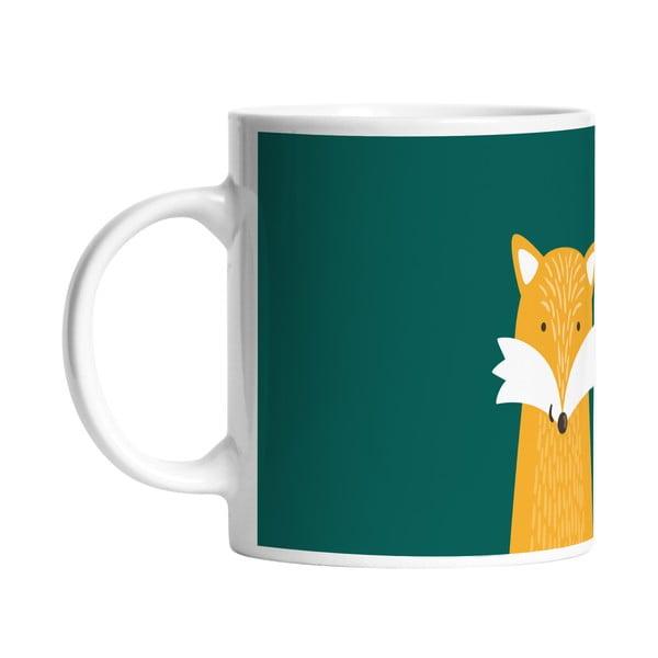 Ceramiczny kubek Hello Fox, 330 ml