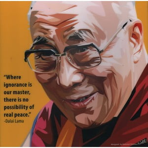 "Obraz ""Dalai Lama - Where ignorance is our master"""