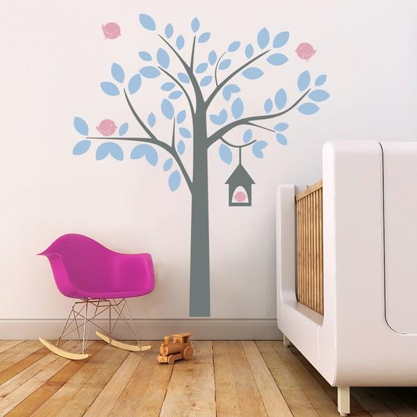 Naklejka ścienna Drzewo i ptaki, 2 arkusze, 70x50 cm