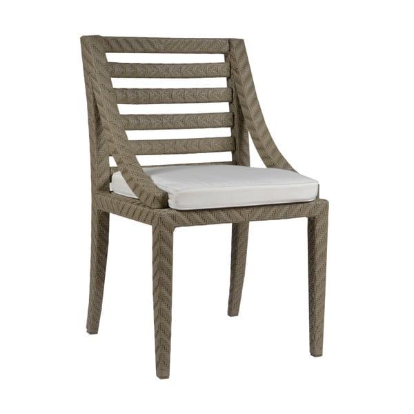Krzesło ogrodowe z podkładką Franzo Ecru