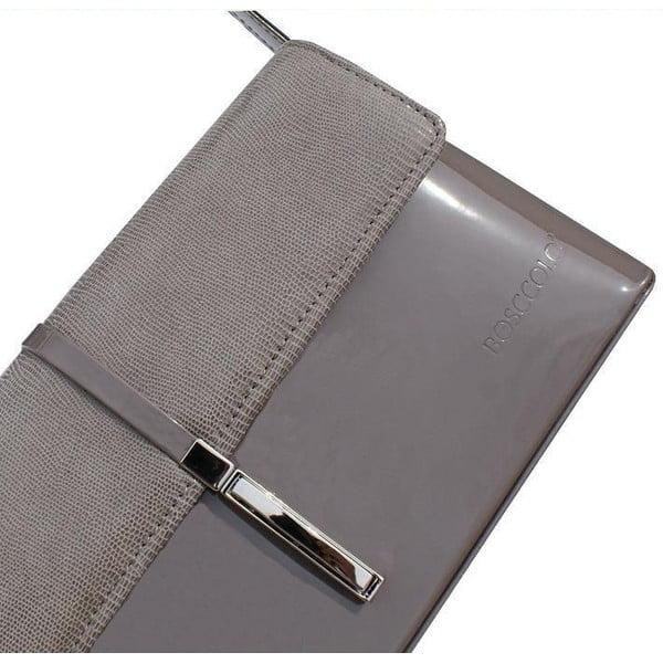 Skórzana kopertówka Boscollo Grey 2297