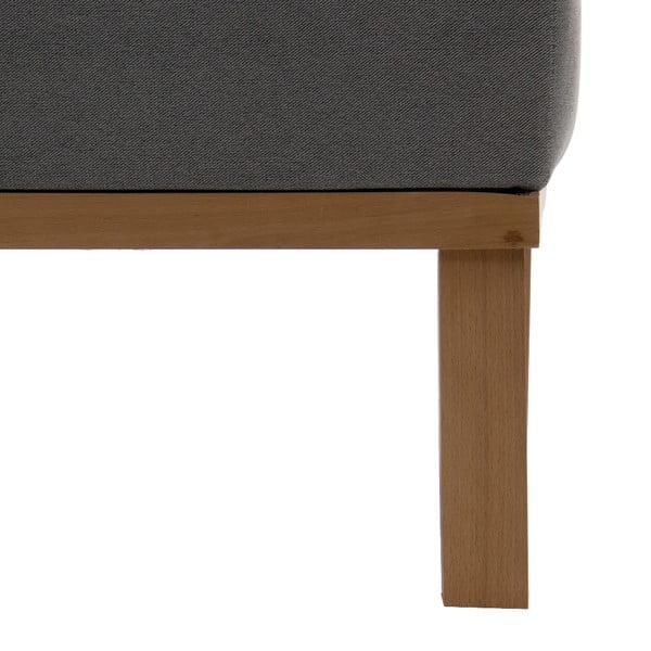 Sofa trzyosobowa VIVONITA Jonan Light Grey, naturalne nogi