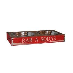 Czerwona miska dla psa Antic Line Bar Sodas