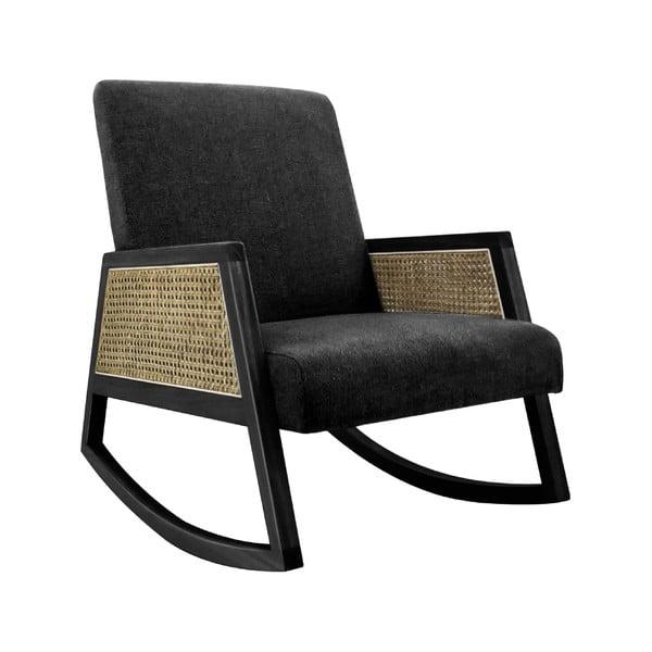 Fotel bujany z drewna Paulownia Leitmotiv Retro