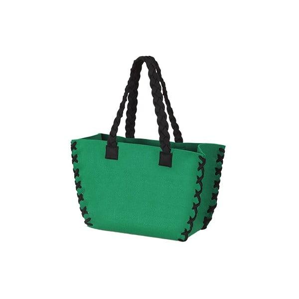 Mała filcowa torba, zielona