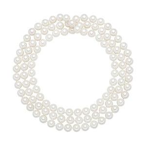 Naszyjnik z białych pereł ⌀ 10 mm Perldesse Muschel, długość 120 cm