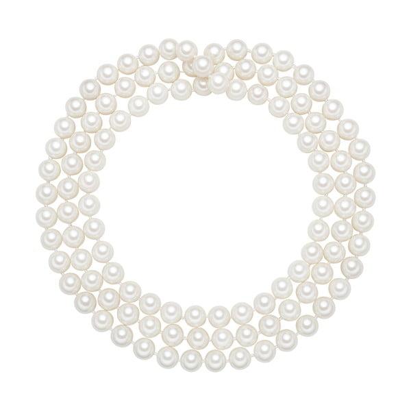 Perłowy naszyjnik Muschel, białe perły 10 mm, długość 120 cm