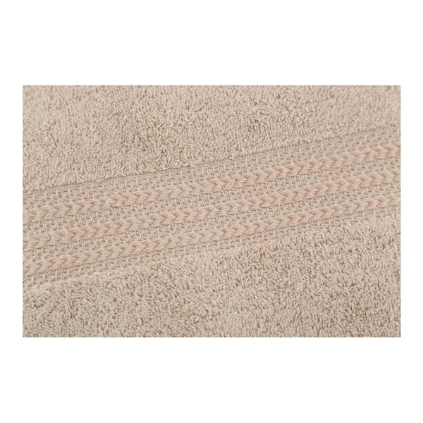 Jasnoszary ręcznik bawełniany Liney, 70x140cm