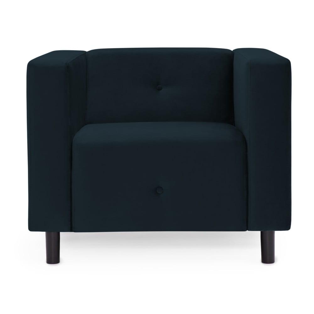 Ciemnoniebieski fotel Vivonita Milo