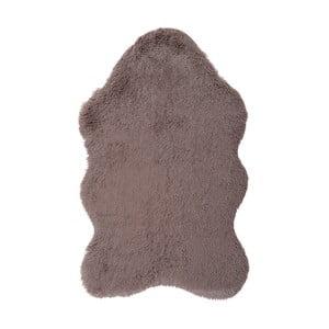 Brązowy dywan ze skóry ekologicznej Floorist Soft Bear, 70x105 cm