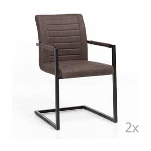 Zestaw 2 brązowych krzeseł Woodking Picasso