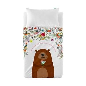 Zestaw prześcieradła i poszewki na poduszkę Little W Daisy Flower, 120x180 cm