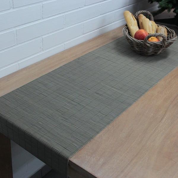 Bieżnik na stół Bamboo 40x180 cm, szary