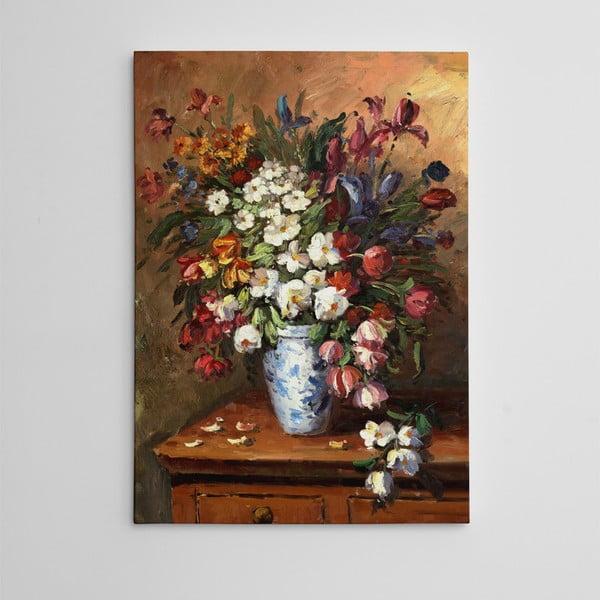 """Obraz na płótnie """"Kwiaty"""", 50x70 cm"""