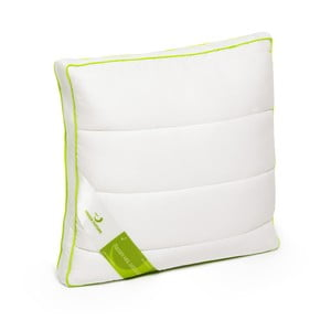 Biała poduszka z bambusowym wypełnieniem Perna Nature Green Future, 37x37cm