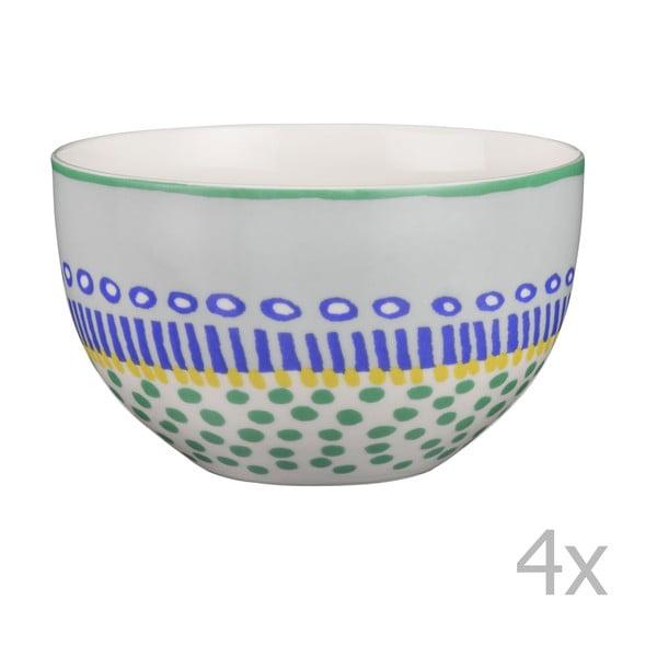 Komplet 4 misek porcelanowych Oilily 12 cm, zielony