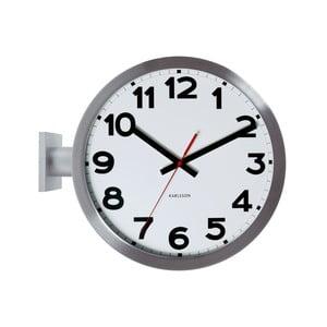 Biały zegar Present Time Double Sided