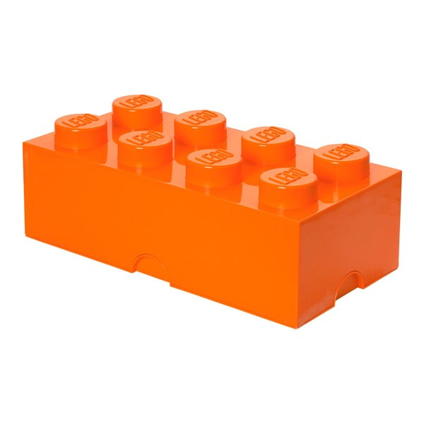 Pomarańczowy pojemnik prostokątny LEGO®