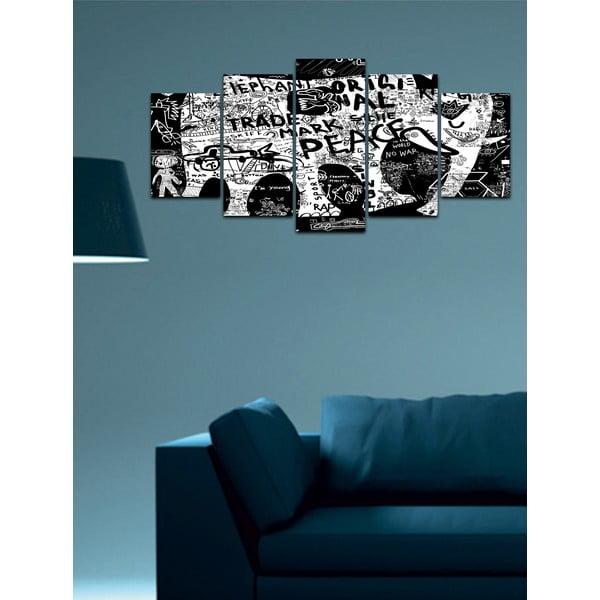 Wieloczęściowy obraz Black&White no. 22, 100x50 cm