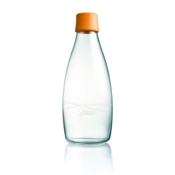 Pomarańczowa butelka ze szkła ReTap z dożywotnią gwarancją, 800 ml