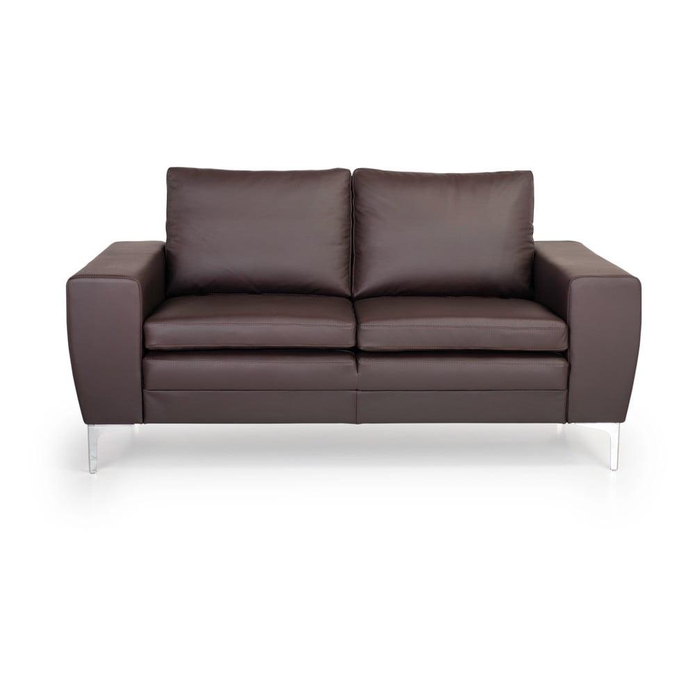 Brązowa 2-osobowa sofa skórzana Softnord Twigo