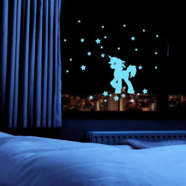 Naklejka świecąca Fanastick Unicorn With Stars