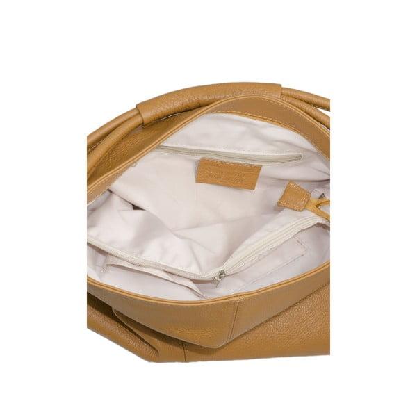 Koniakowo-brązowa torebka skórzana Markese 5008 Cognac