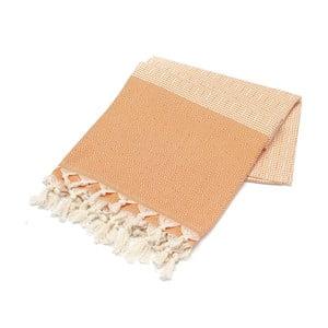 Ręcznik hammam Stripped Elmas Orangina, 100x180 cm