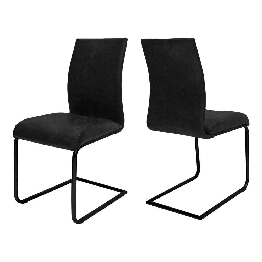Czarne krzesło Canett Clipper