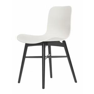 Białe krzesło bukowe do jadalni NORR11 Langue Stained