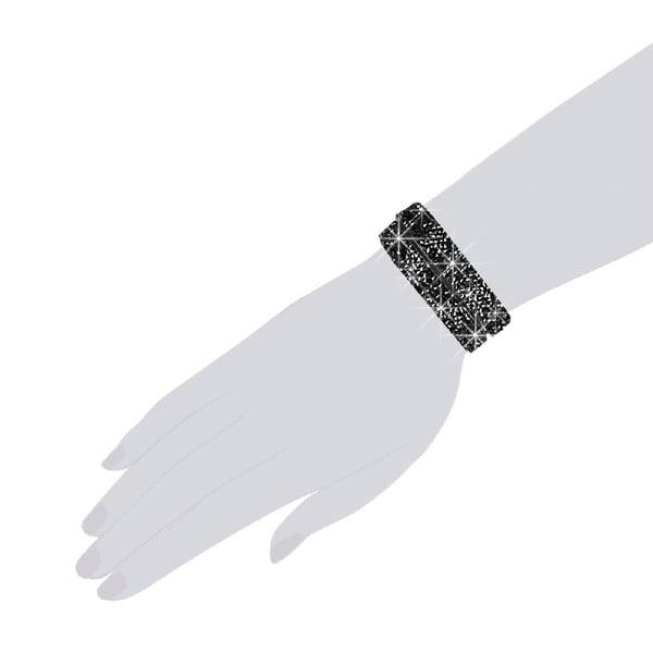Bransoletka Black Shine, 34 cm