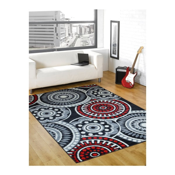 Dywan Flair Rugs Cercles Grey, 160x235 cm