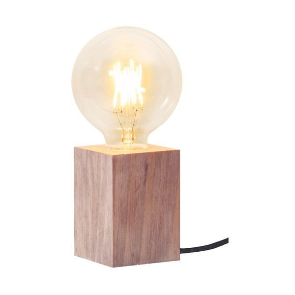Brązowa   lampa drewniana Best Season Lys