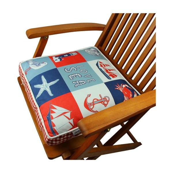 Poduszka na krzesło z wypełnieniem Navy, 42x42 cm