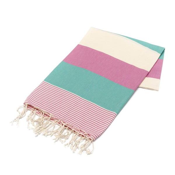 Ręcznik hammam American Stripes Mint, 100x180 cm
