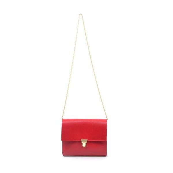 Skórzana torebka Jennifer, czerwona