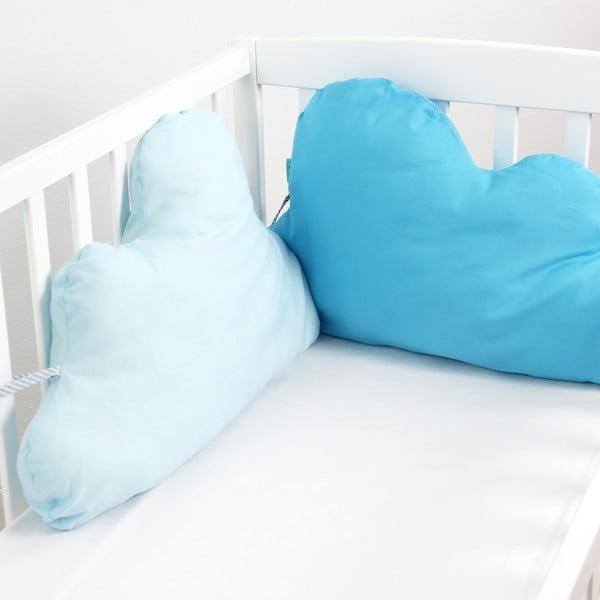 Bawełniany ochraniacz do łóżeczka Mr. Fox Nube Blue, 60x40 cm