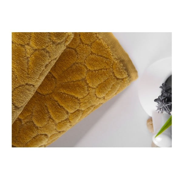 Zestaw 2 ręczników Samba Mustard, 50x90 cm i 70x140 cm