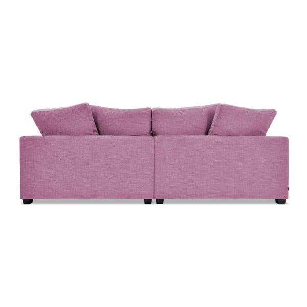 Różowa sofa trzyosobowa VIVONITA Hugo