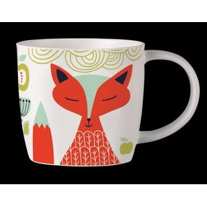 Kubek z angielskiej porcelany Folkland Foxy White