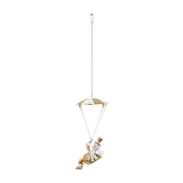 Dekoracja wisząca Archipelago Gold Snowman Parachute Spring, 25 cm