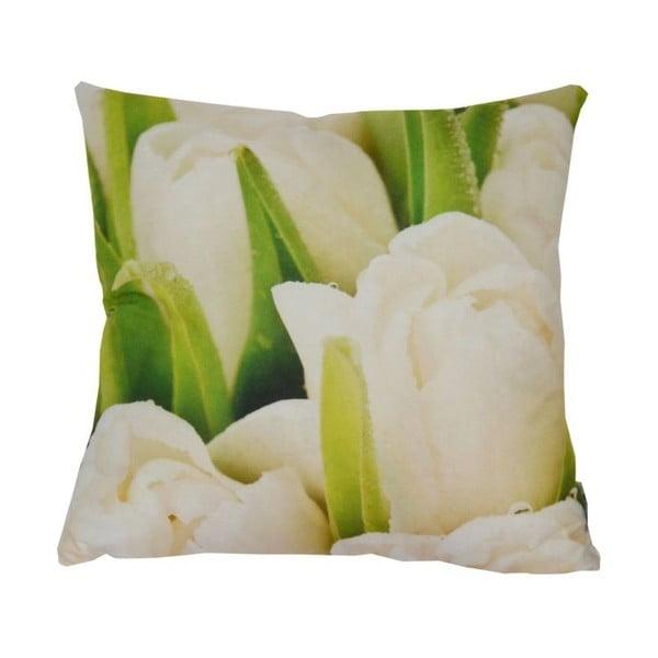 Poduszka White Tulips, 42x42 cm