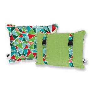 Plażowa poduszka Origama Olive Geo
