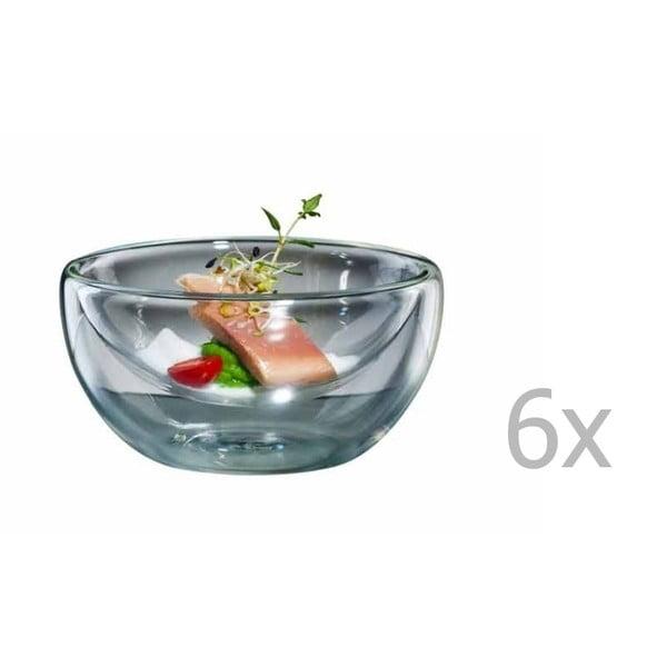 Zestaw 6   dużych szklanych miseczek bloomix