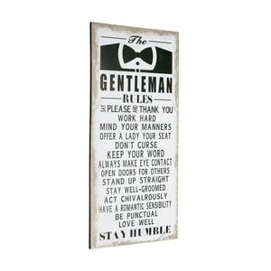 Tablica Gentleman rules, 60x30 cm
