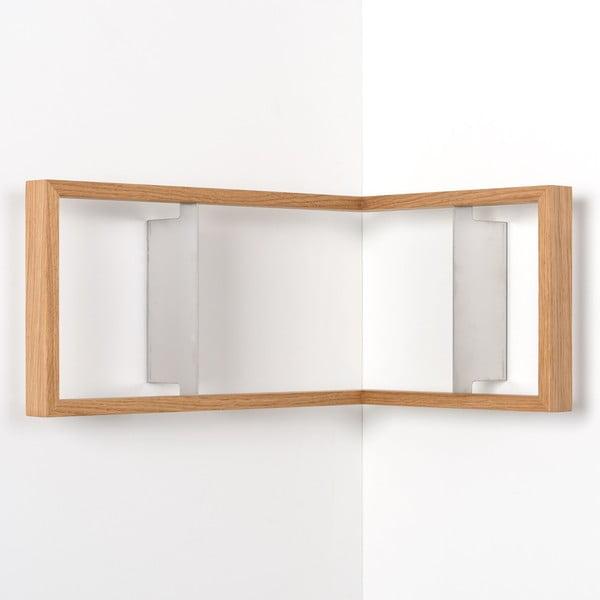 Narożna półka na książki z drewna dębowego das kleine b b1, 50x35x23 cm