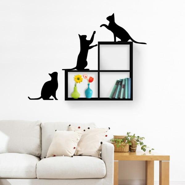 Półka z naklejką Cats Black