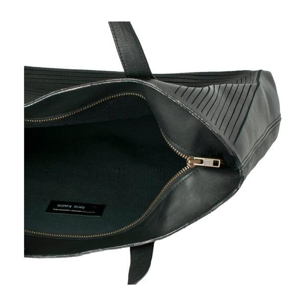 Skórzana torebka Cut Out, czarna